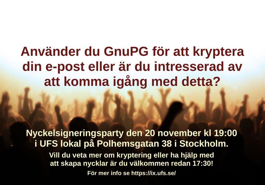 Flyer - Nyckelsigneringsparty i Stockholm